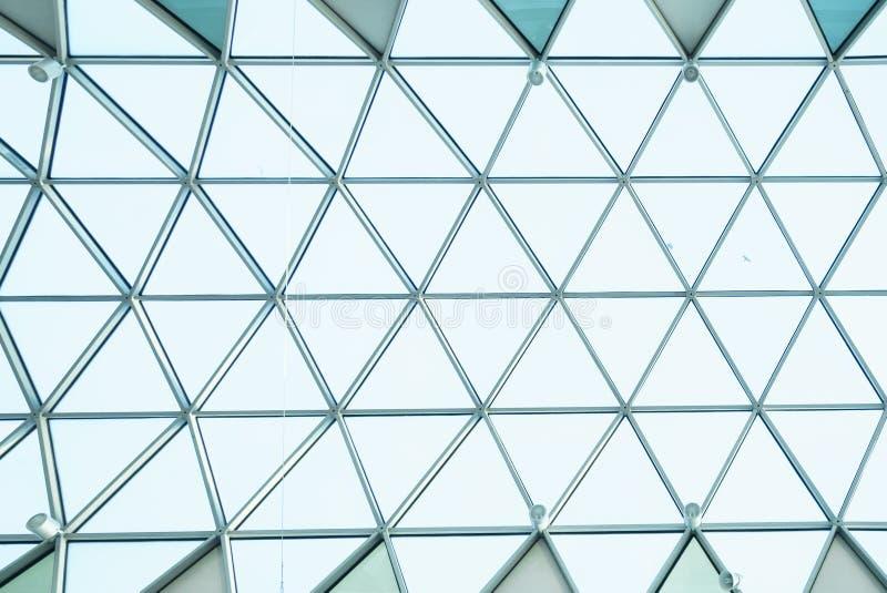 Construction en verre d'architecture images stock