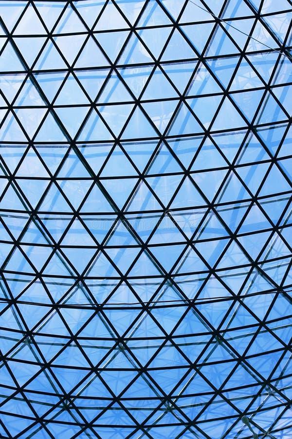 Construction en verre de toit photographie stock