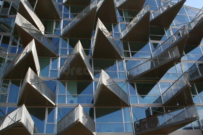 Construction en verre moderne - extérieur photographie stock