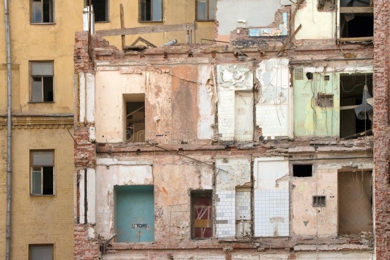 Construction endommagée photos libres de droits