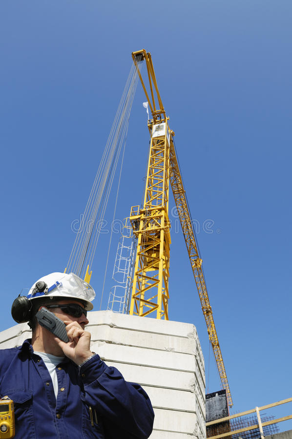 Download Construction Engineer On Site Stock Image - Image of building, lifting: 11284365