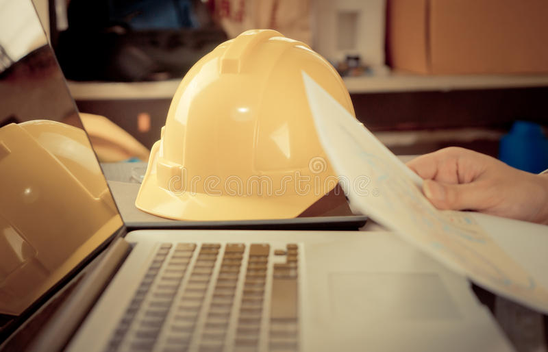 Construction Engineering student study royalty free stock image