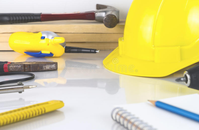 Construction engineering tools royalty free stock image