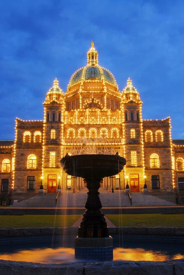 Construction et fontaine du Parlement photos stock