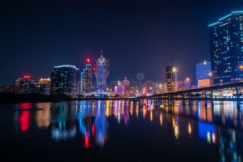 Construction et l'horizon de Macao photos stock