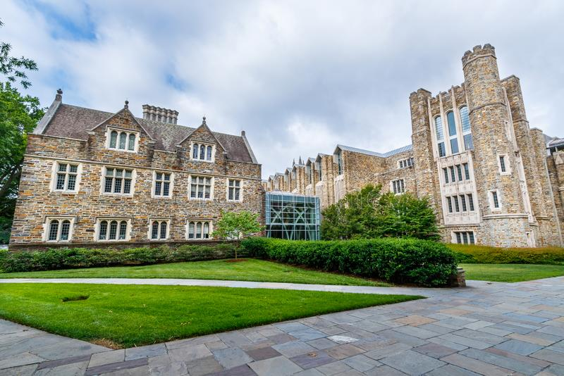 Construction et Perkins Library de langues chez Duke University image stock