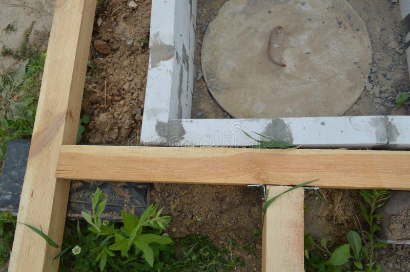 Construction et unit?s en bois photographie stock libre de droits