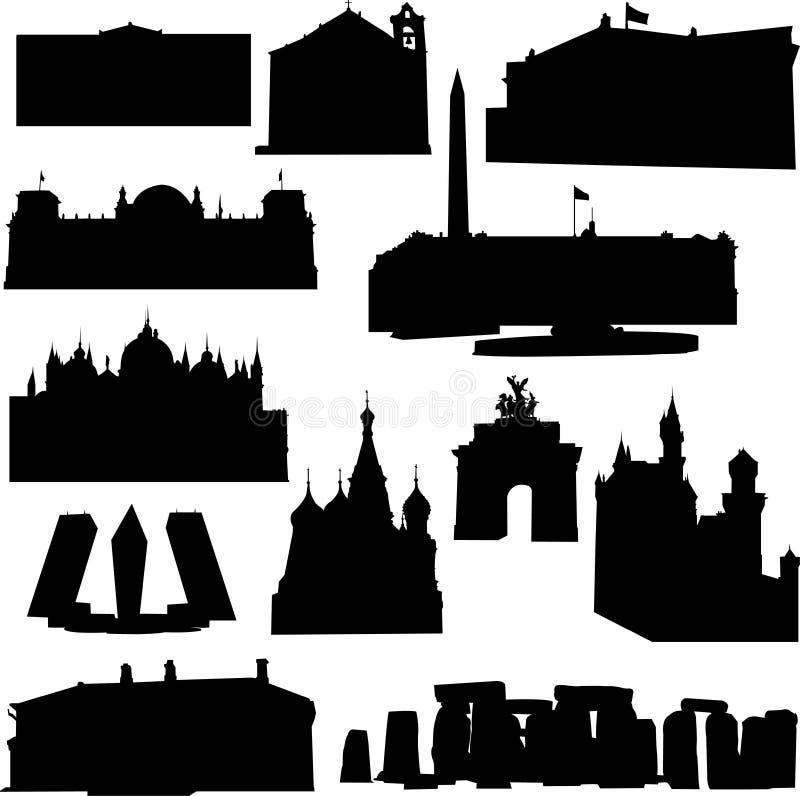 Construction européenne illustration stock