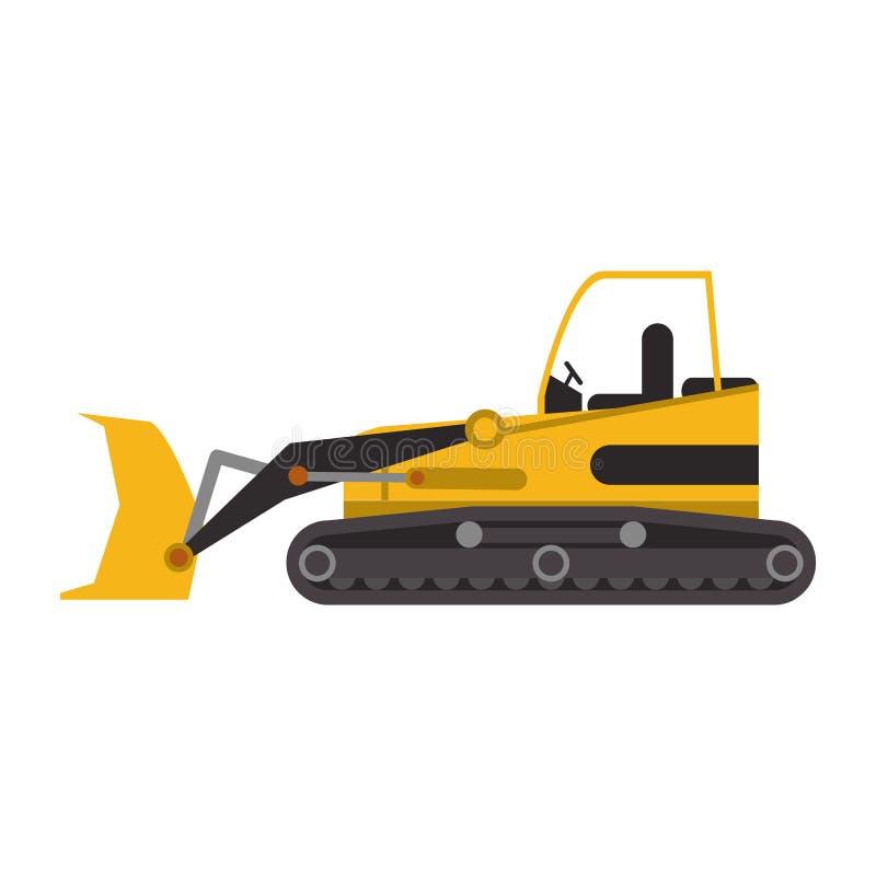 Construction excavator vehicle machine isolated. Vector illustration graphic design vector illustration
