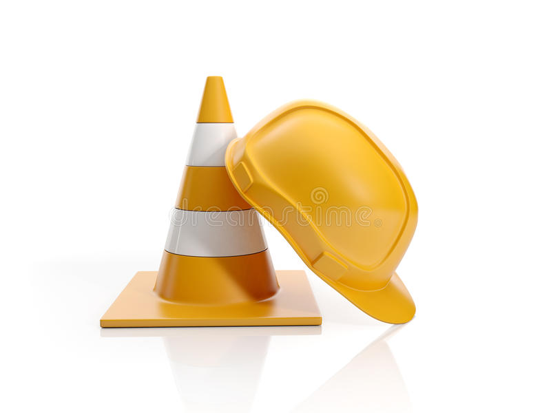 Construction Fencing And Construction Stock Photo