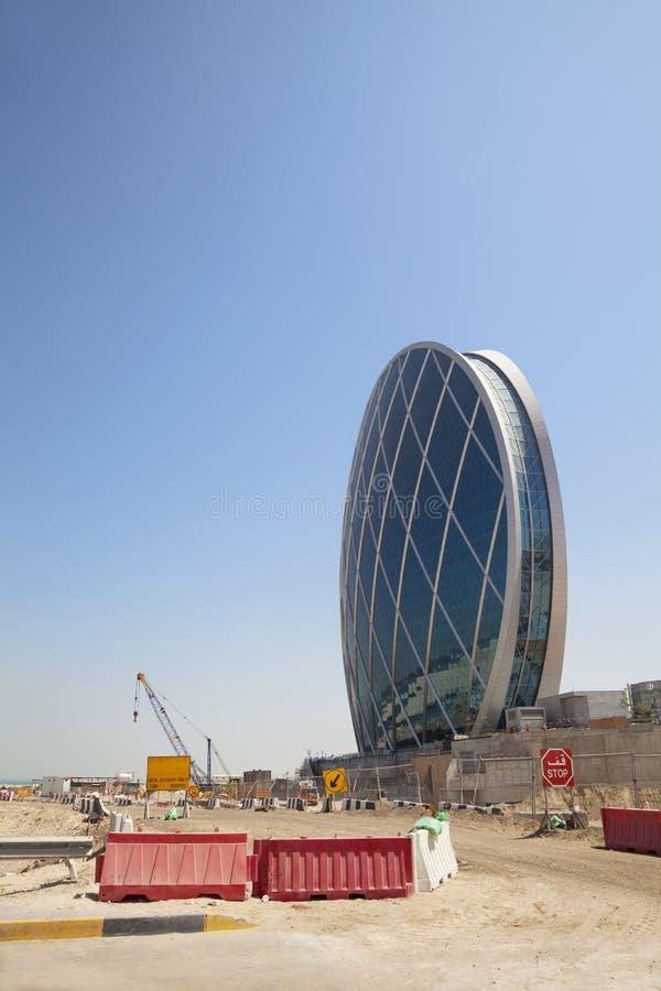 Construction formée par soucoupe, Abu Dhabi, EAU photo libre de droits