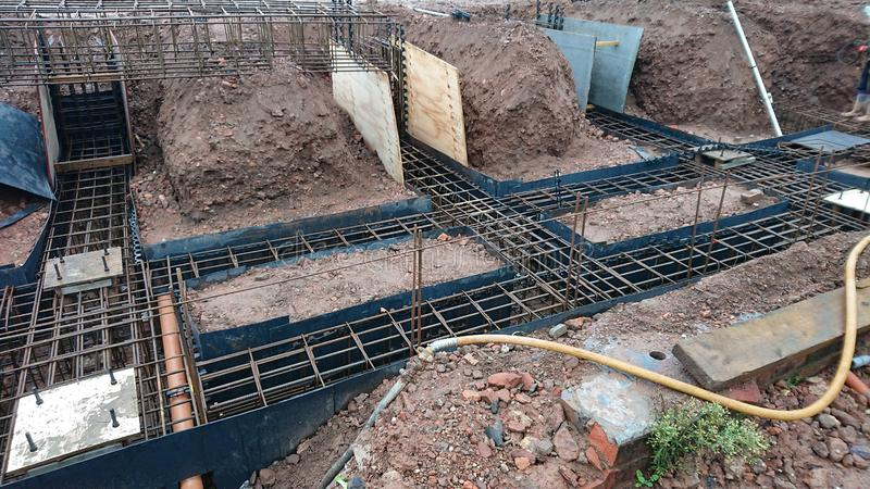 Building Site Foundations royalty free stock photos