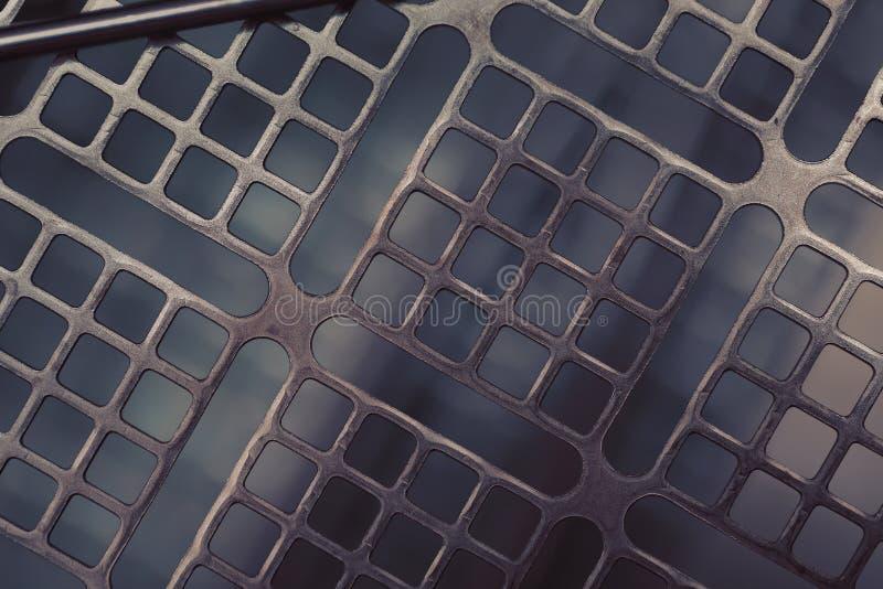 Construction geometric metallic macro industrial background stock image