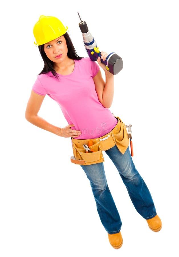Construction Girl stock image