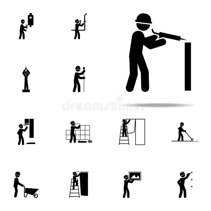 Construction, glue worker icon. Construction People icons universal set for web and mobile. On white background royalty free illustration