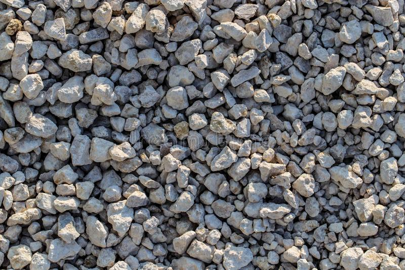 Construction gravel as abstract background royalty free stock photography