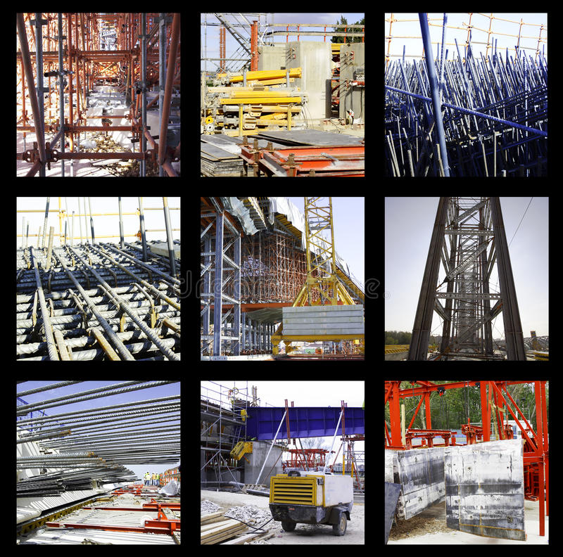Download Construction Group Snapshots Stock Photo - Image: 25102920