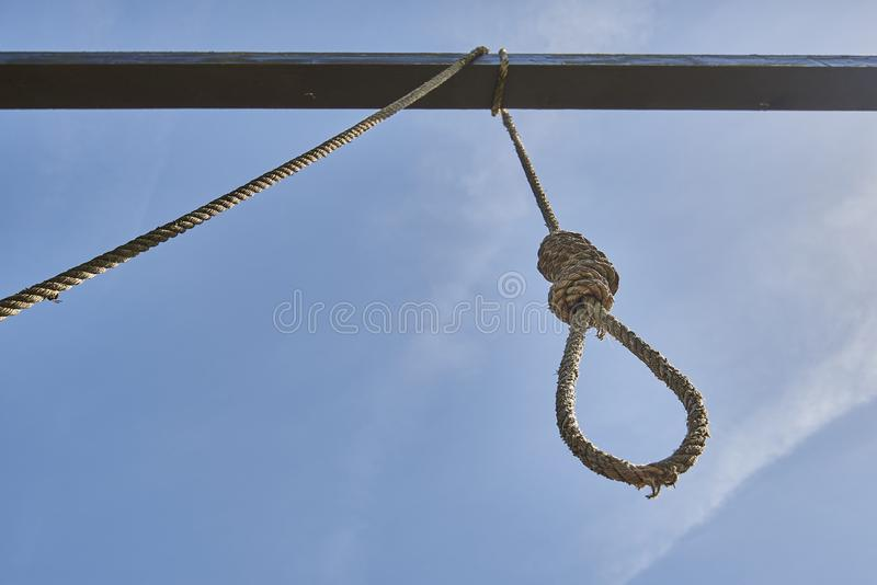Construction for hanging people in antiquity. royalty free stock images