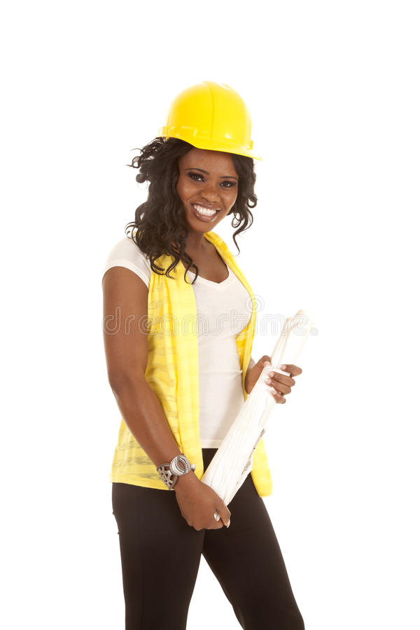 Download Construction Hard Hat Plans Stock Photo - Image: 27164516