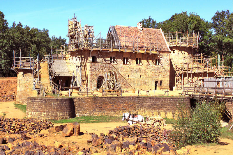 Construction Of A Historic Castle Royalty Free Stock Photography