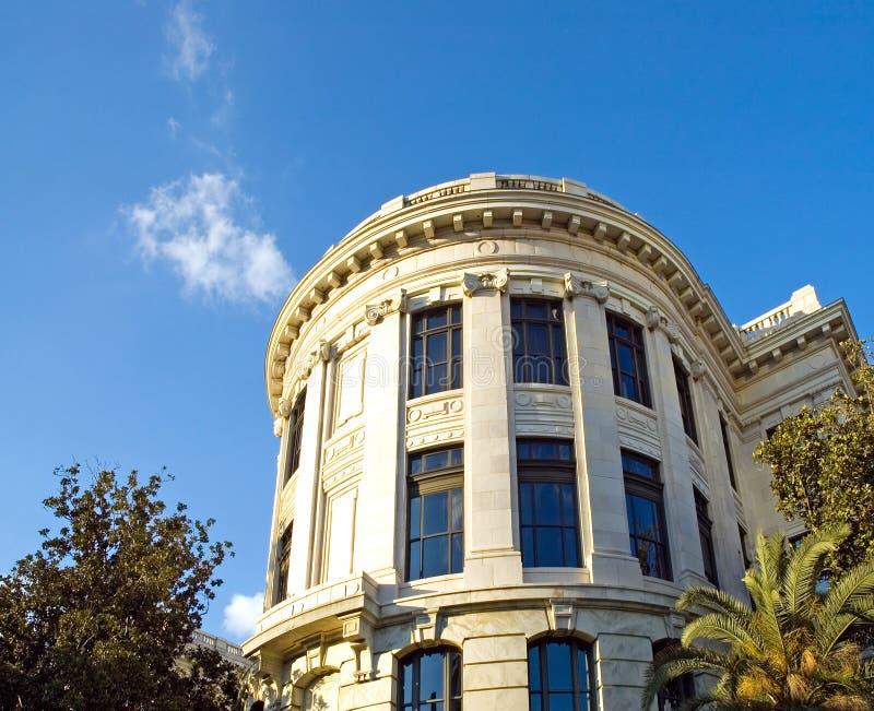 Construction historique de cour de la Louisiane photo stock