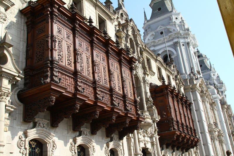 Construction historique, ville de Lima photographie stock libre de droits