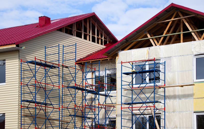Download Construction Of The House. Facade Stock Photo - Image: 19685844