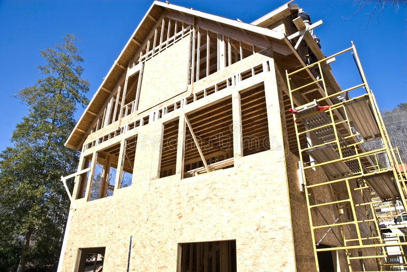 Download Construction/House/Scaffolding Stock Image - Image: 8253877