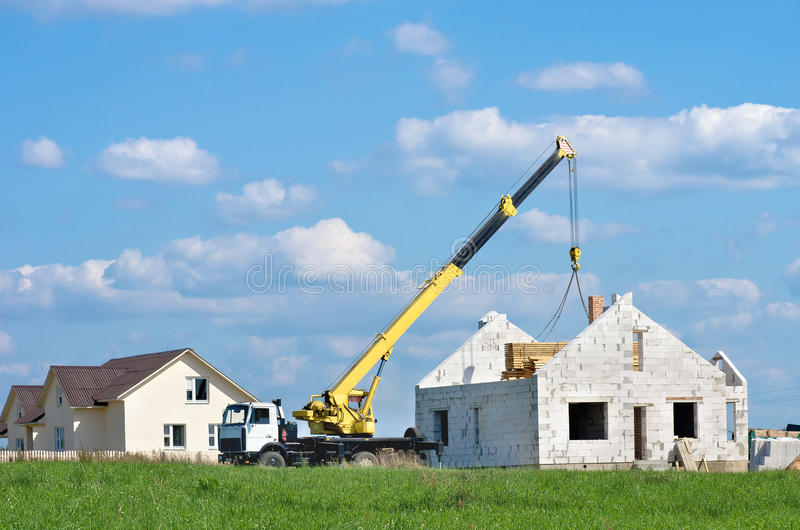 Construction Of Houses Royalty Free Stock Photography