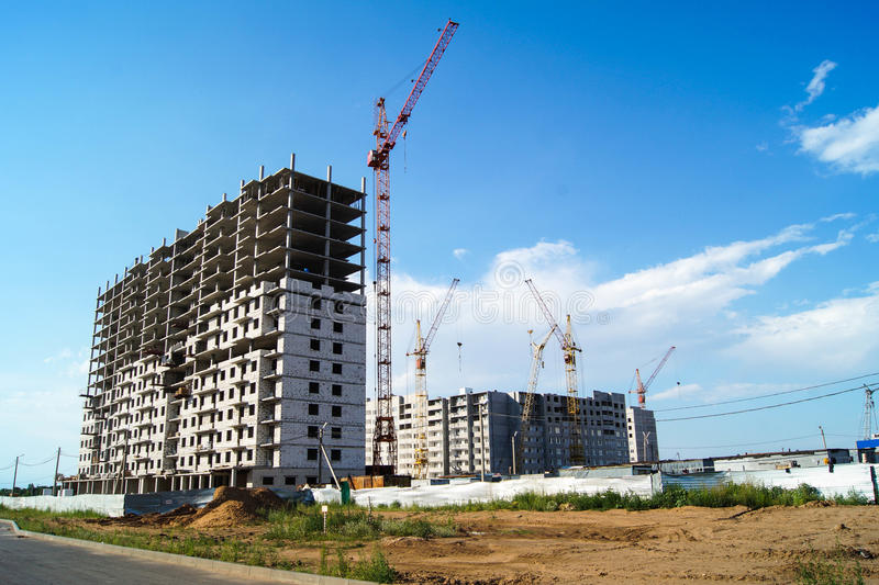 The construction of houses. stock image