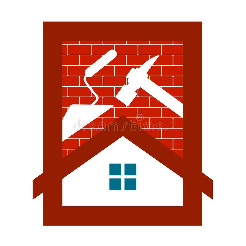 Housing construction symbol for business royalty free stock photos
