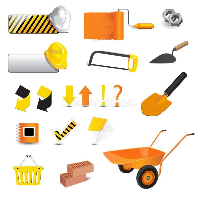 Construction icon. Art Illustration construction building icon stock illustration