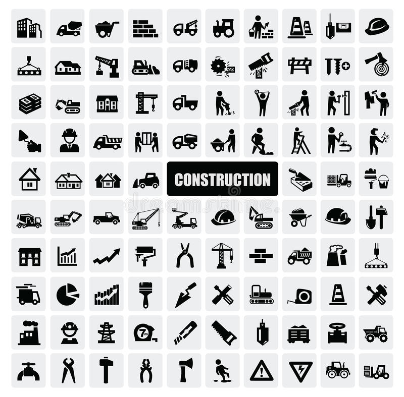 Construction icon stock illustration