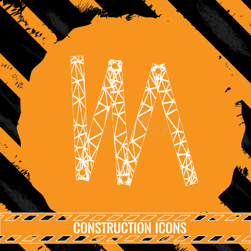 Construction icon. Isolated abstract construction icon, Vector illustration vector illustration
