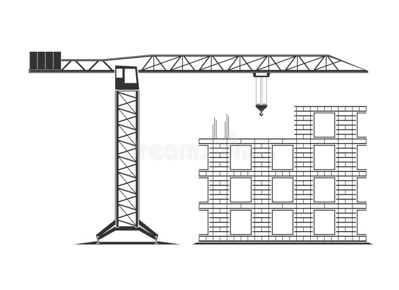 Construction icon isolated on background stock photo