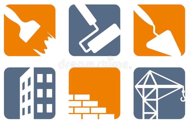 Construction icons vector illustration
