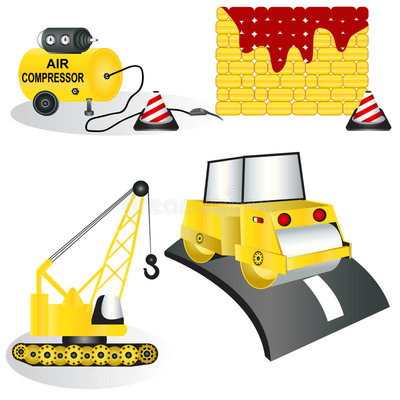 Download Construction icons 2 stock vector. Image of object, labor - 19950640