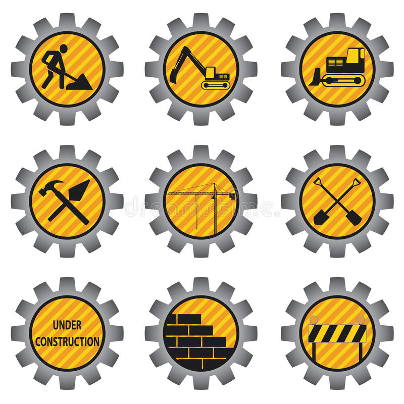 Construction icons. royalty free illustration
