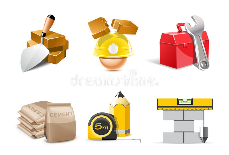 Construction icons | Bella series vector illustration