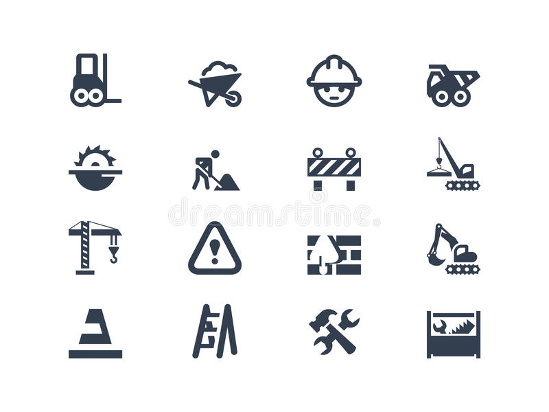 Construction icons royalty free illustration