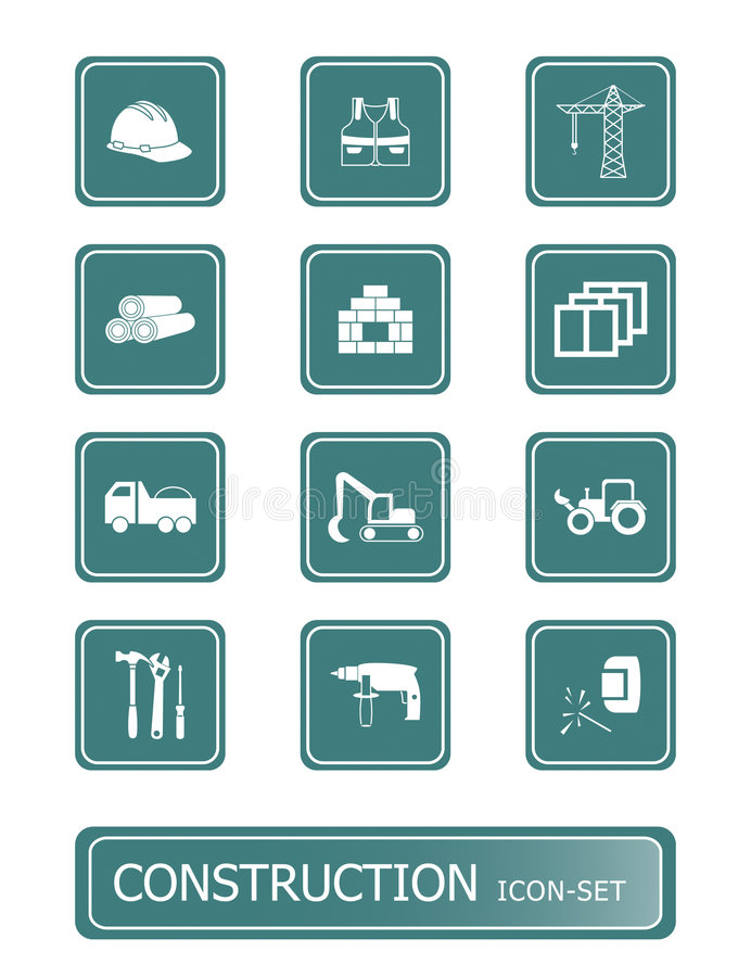 Download Construction Icons | TEAL Series Stock Vector - Image: 4282531