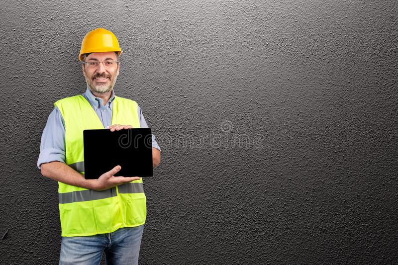 Construction industry professional royalty free stock image