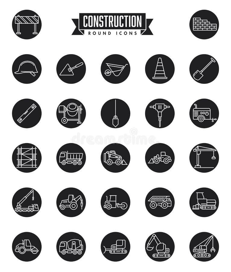 Free Construction Industry Round Icon Set Stock Photo - 164523130