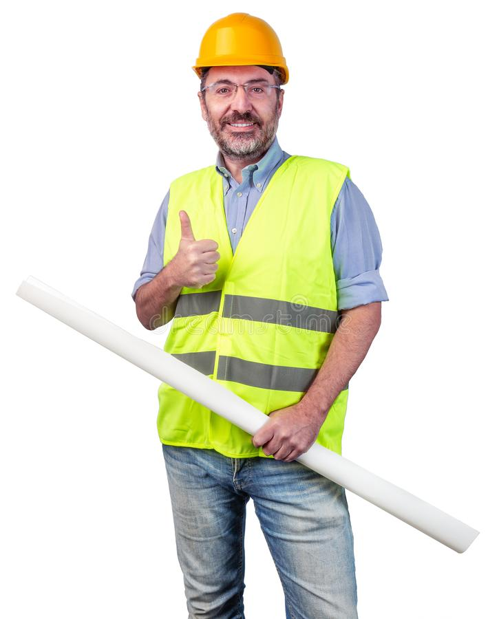 Construction industry worker royalty free stock photography