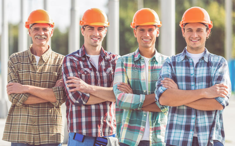 Construction Industry workers stock images