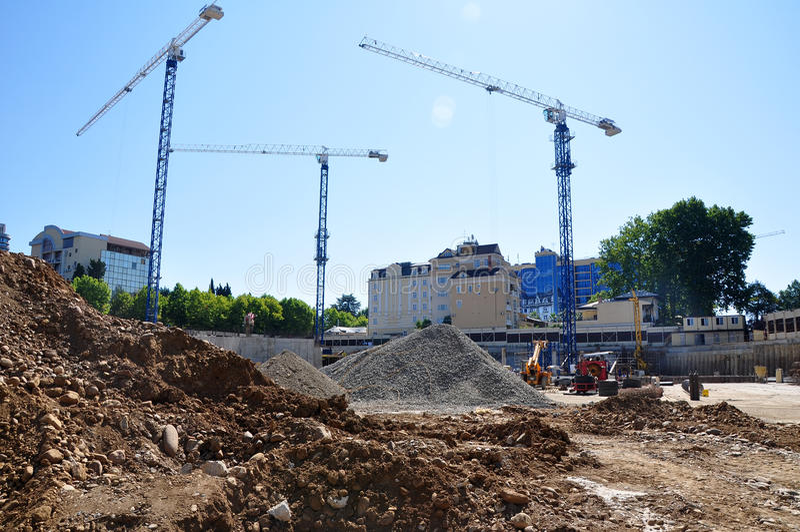 Construction of International Olympic University royalty free stock photos