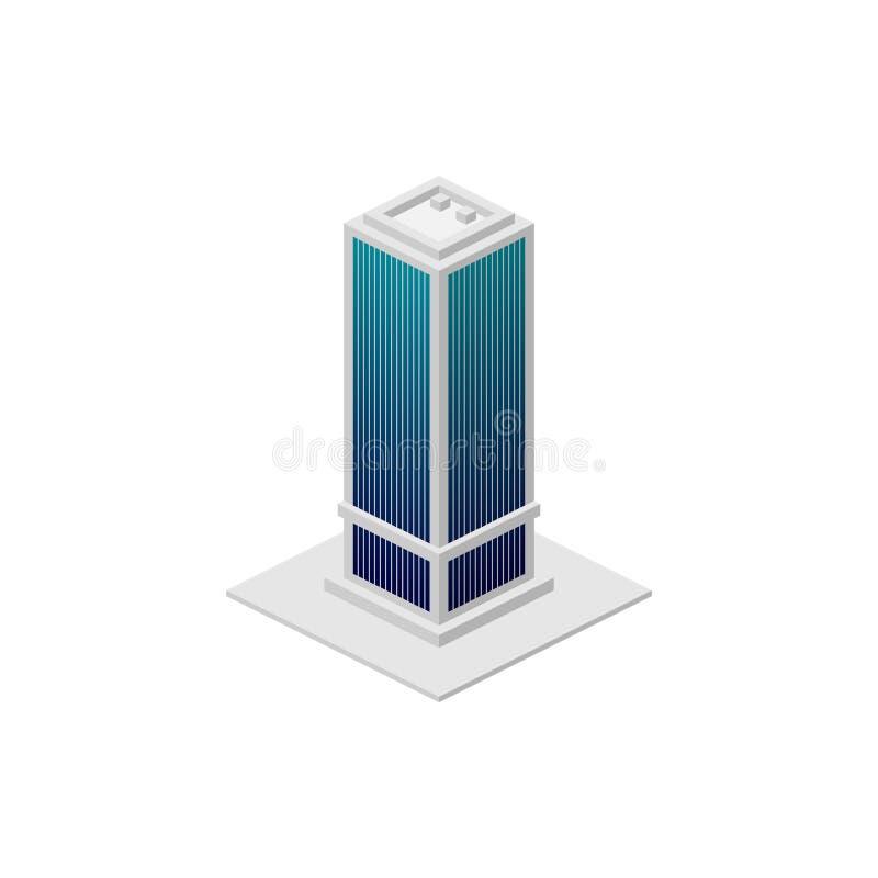 Construction isométrique Élément d'icône de bâtiment de couleur pour des applis mobiles de concept et de Web L'icône de construct illustration libre de droits