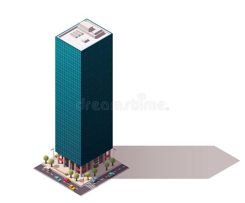 Construction isométrique de vecteur illustration stock