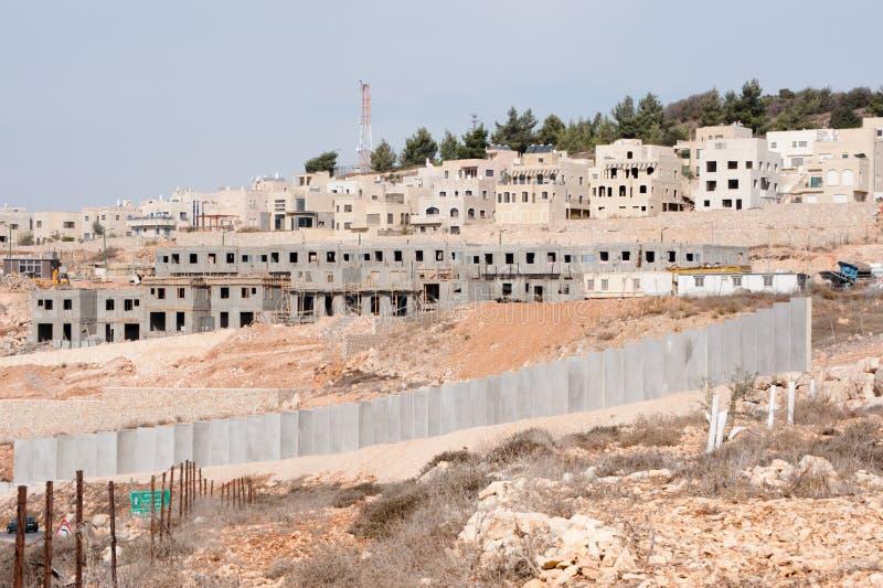Construction israélienne de règlement photo stock