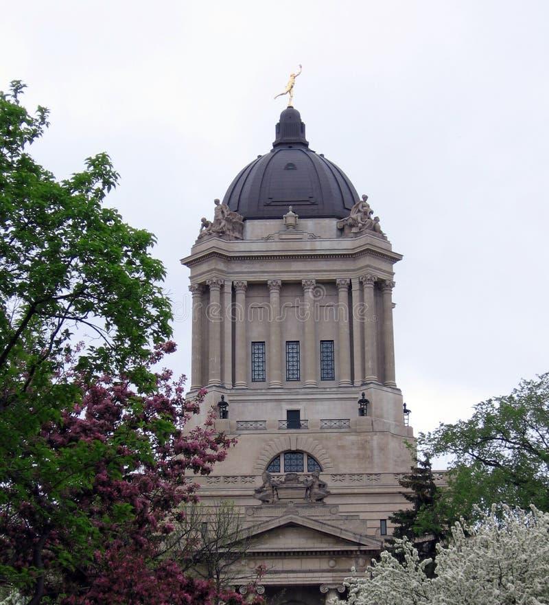 Construction législative de Manitoba images stock